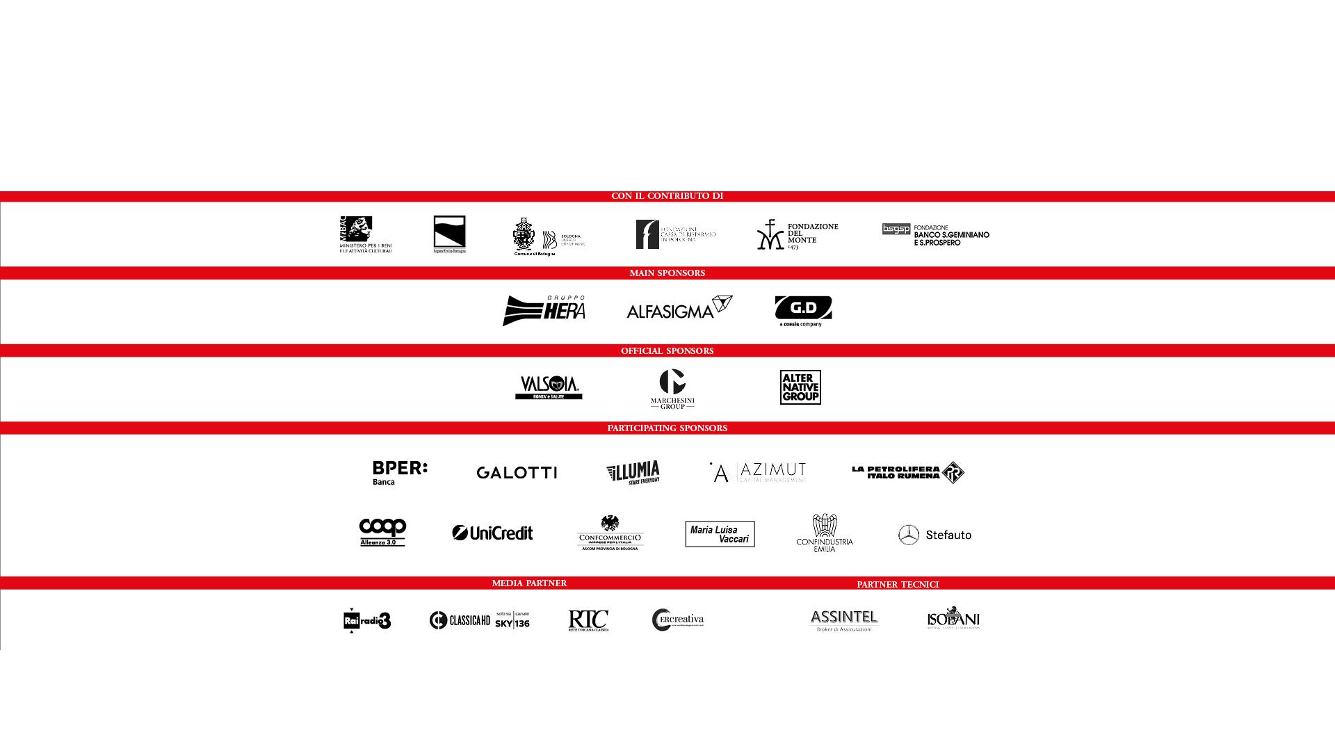 Bologna Festival sponsor 2020